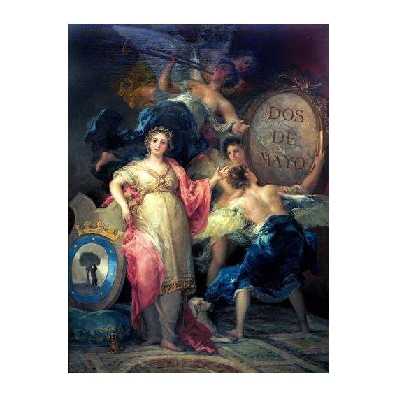 cuadros de retrato - Cuadro -Alegoría de la Villa de Madrid-
