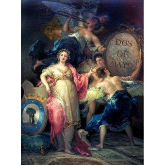 cuadros de retrato - Cuadro -Alegoría de la Villa de Madrid- - Goya y Lucientes, Francisco de