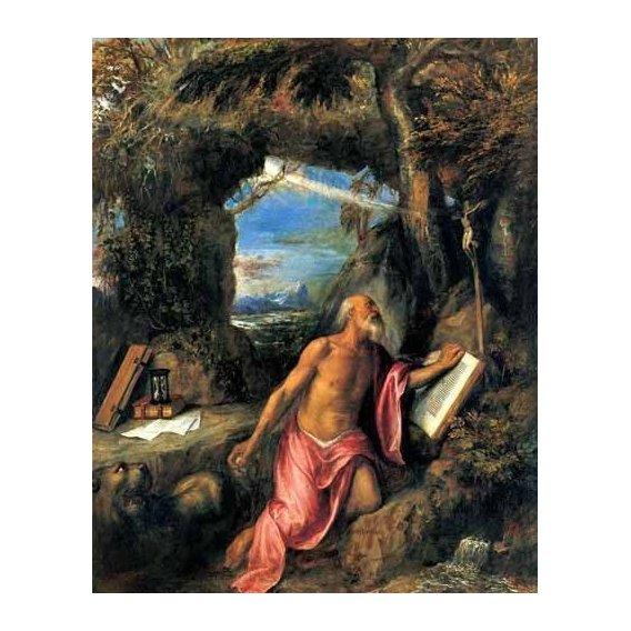 cuadros religiosos - Cuadro -San Jerónimo en penitencia-