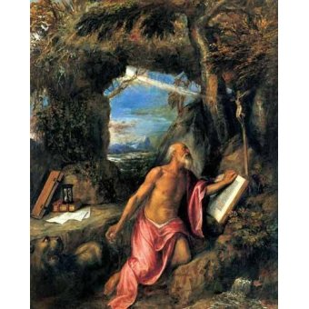 - Cuadro -San Jerónimo en penitencia- - Tiziano, Tiziano Vecellio