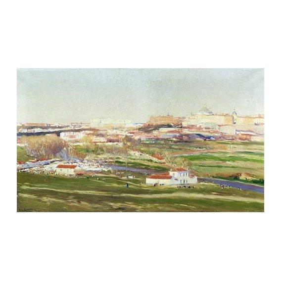 cuadros de paisajes - Cuadro -Pradera de San Isidro - Madrid-