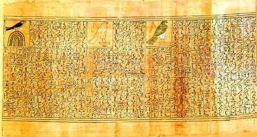 cuadros-etnicos-y-oriente - Cuadro -Libro de los muertos (de Ani): Ani como diferentes aves- - _Anónimo Egipcio