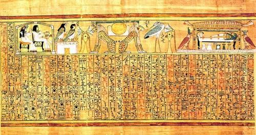 cuadros-etnicos-y-oriente - Cuadro -Libro de los muertos (de Ani): Ayer y hoy- - _Anónimo Egipcio
