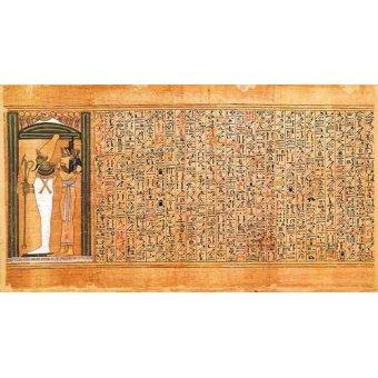 - Cuadro -Libro de los muertos (de Ani): Osiris e Isis- - _Anónimo Egipcio