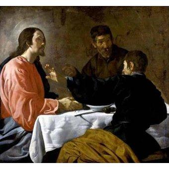 - Cuadro -La cena en Emmaus- - Velazquez, Diego de Silva