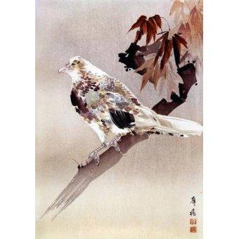 cuadros etnicos y oriente - Cuadro -Pájaro de cuerpo rechoncho- - _Anónimo Chino