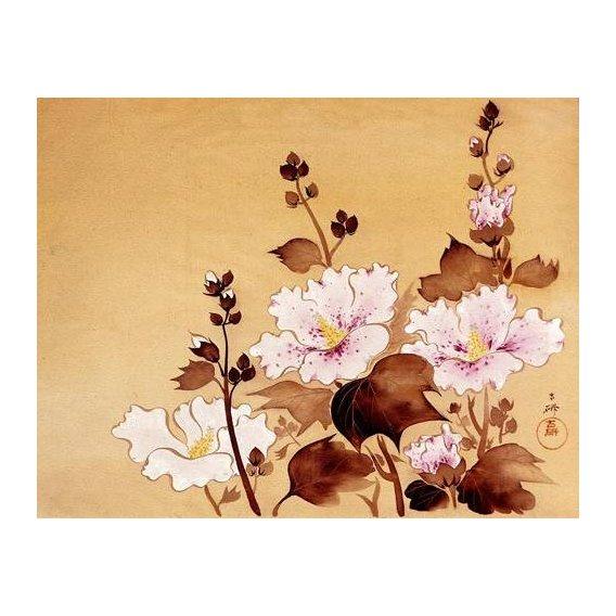 cuadros etnicos y oriente - Cuadro -Flores blancas-