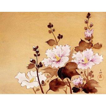 - Cuadro -Flores blancas- - _Anónimo Chino
