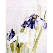 Cuadro -Lirios violáceos-