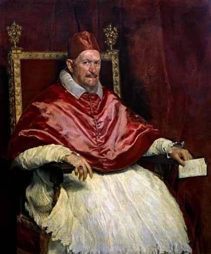 cuadros-religiosos - Cuadro -Retrato del Papa Inocencio- - Velazquez, Diego de Silva