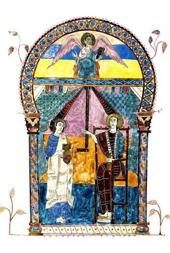cuadros-religiosos - Cuadro -Beato de Liébana, codice de Gerona- - _Anónimo Español