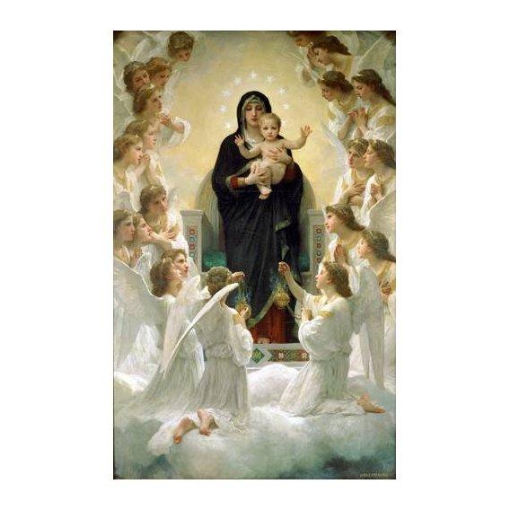 cuadros religiosos - Cuadro -La Virgen y angeles-