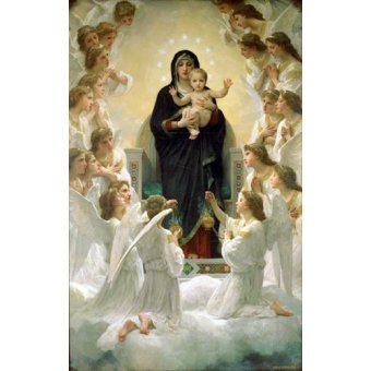 cuadros religiosos - Cuadro -La Virgen y angeles- - Bouguereau, William