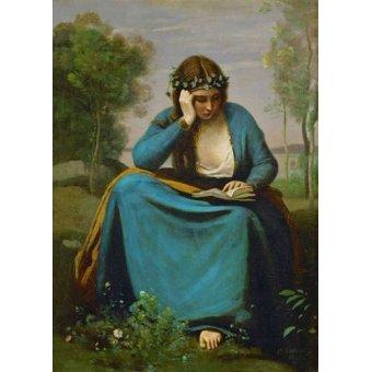 cuadros de retrato - Cuadro -La Muse de Virgil- - Corot, J. B. Camille