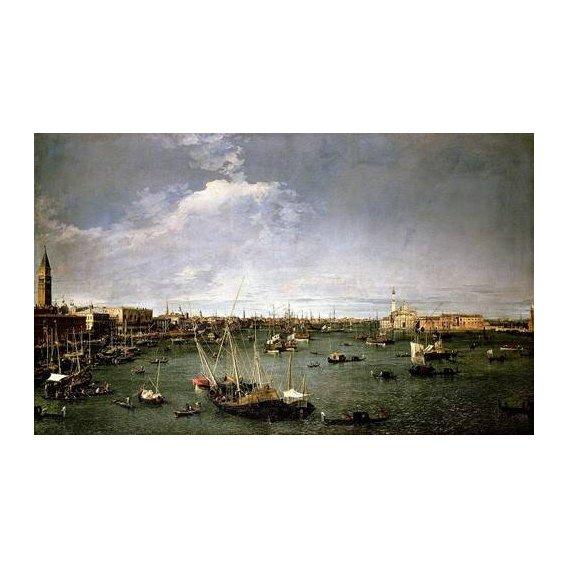 cuadros de paisajes - Cuadro -La dársena de San Marcos-