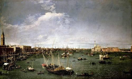 cuadros-de-paisajes - Cuadro -La dársena de San Marcos- - Canaletto, Giovanni A. Canal
