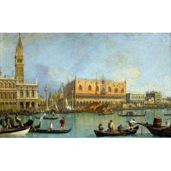 - Cuadro -La Mole vista desde San Marcos- - Canaletto, Giovanni A. Canal