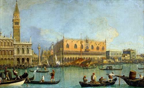 cuadros-de-paisajes - Cuadro -La Mole vista desde San Marcos- - Canaletto, Giovanni A. Canal