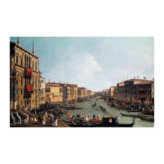 cuadros de paisajes - Cuadro -Las regatas sobre el Gran Canal-