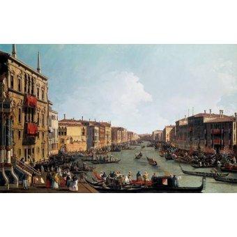 - Cuadro -Las regatas sobre el Gran Canal- - Canaletto, Giovanni A. Canal