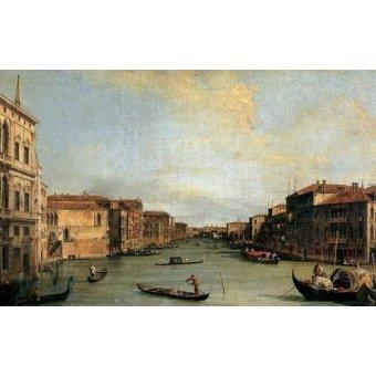 - Cuadro -Canal Grande en Rialto- - Canaletto, Giovanni A. Canal