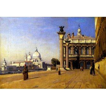 - Cuadro -La mañana en Venecia- - Corot, J. B. Camille