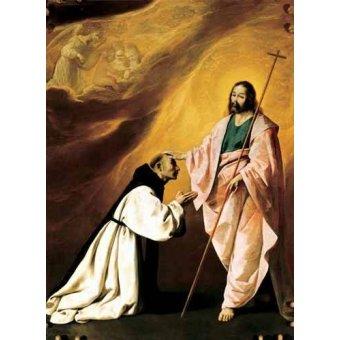 cuadros religiosos - Cuadro -Aparición de Cristo al Padre Salmerón- - Zurbaran, Francisco de