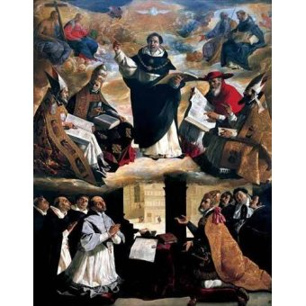 - Cuadro -Apoteosis de Santo Tomás de Aquino- - Zurbaran, Francisco de