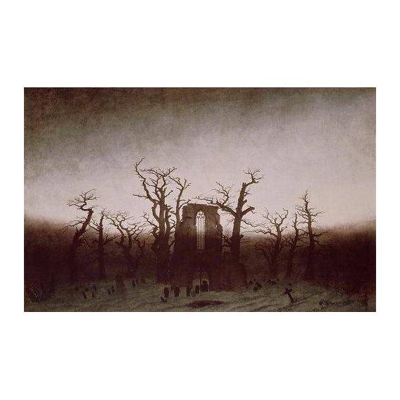 cuadros de paisajes - Cuadro -Abbey in the Oakwood, 1810-