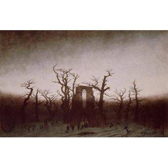 - Cuadro -Abbey in the Oakwood, 1810- - Friedrich, Caspar David