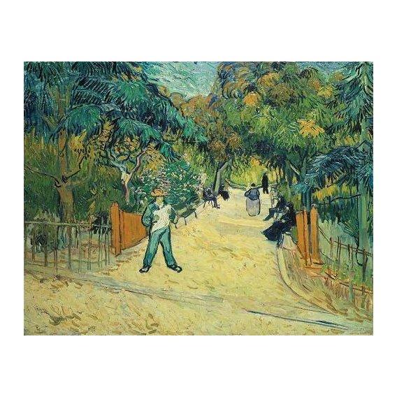 cuadros de paisajes - Cuadro -Entrance to the Public Gardens in Arles, 1888-