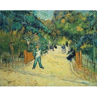 - Cuadro -Entrance to the Public Gardens in Arles, 1888- - Van Gogh, Vincent