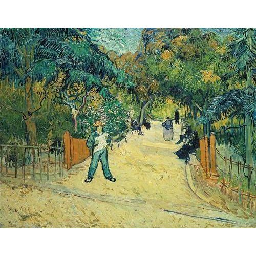 Cuadro -Entrance to the Public Gardens in Arles, 1888-