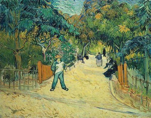 cuadros-de-paisajes - Cuadro -Entrance to the Public Gardens in Arles, 1888- - Van Gogh, Vincent