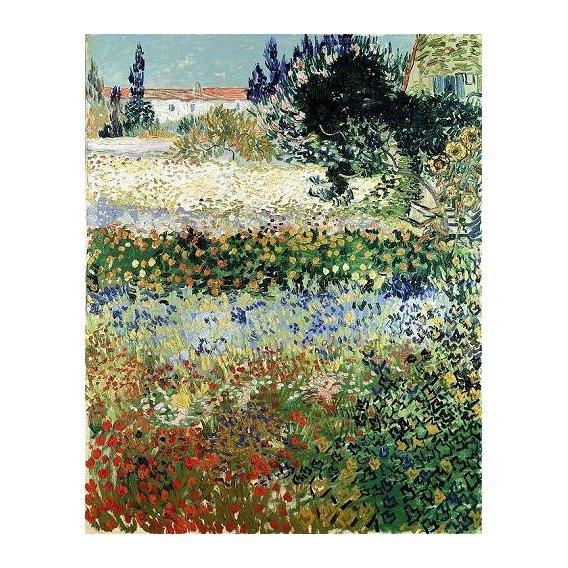 cuadros de paisajes - Cuadro -Garden in Bloom, Arles, 1888-