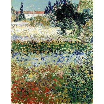 - Cuadro -Garden in Bloom, Arles, 1888- - Van Gogh, Vincent