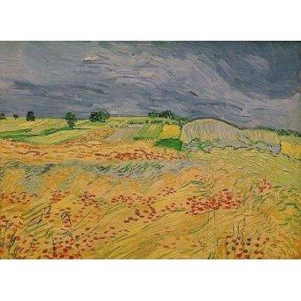 - Cuadro -Plain at Auvers, 1890- - Van Gogh, Vincent