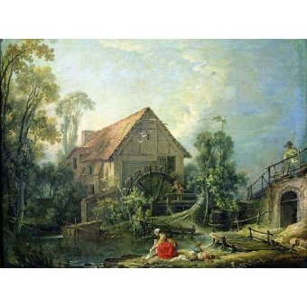 - Cuadro -The Mill, 1751 (oil on canvas)- - Boucher, François