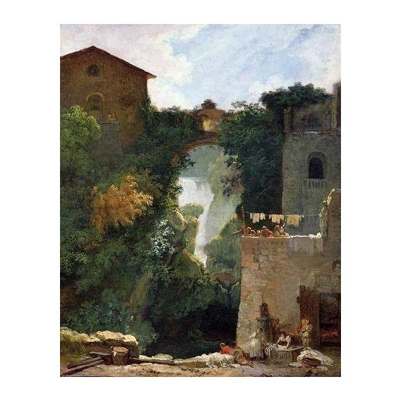 cuadros de paisajes - Cuadro -The Falls of Tivoli (oil on canvas).-