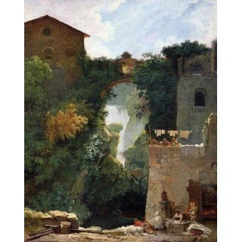 - Cuadro -The Falls of Tivoli (oil on canvas).- - Fragonard, Jean Honoré