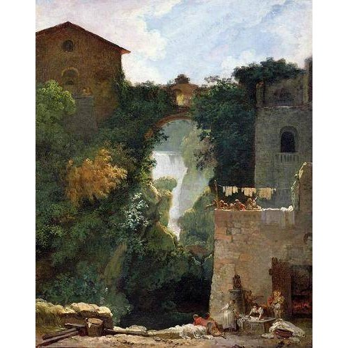 Cuadro -The Falls of Tivoli (oil on canvas).-