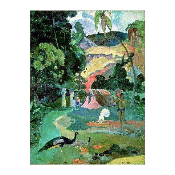 cuadros de paisajes - Cuadro -Matamoe or, Landscape with Peacocks-