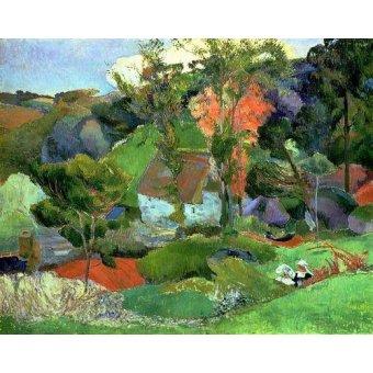 - Cuadro -Landscape at Pont Aven, 1888- - Gauguin, Paul