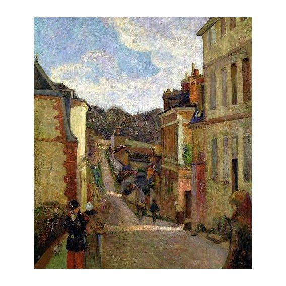 cuadros de paisajes - Cuadro -A Suburban Street, 1884-
