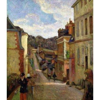 - Cuadro -A Suburban Street, 1884- - Gauguin, Paul