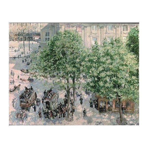 cuadros de paisajes - Cuadro -Place du Theatre-Francais, Spring, 1898-