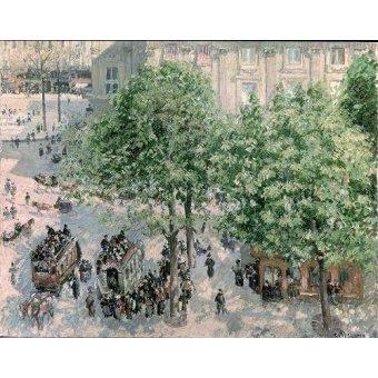 cuadros impresionistas - Cuadro -Place du Theatre-Francais, Spring, 1898- - Pissarro, Camille