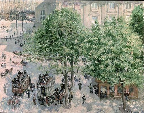 cuadros-de-paisajes - Cuadro -Place du Theatre-Francais, Spring, 1898- - Pissarro, Camille