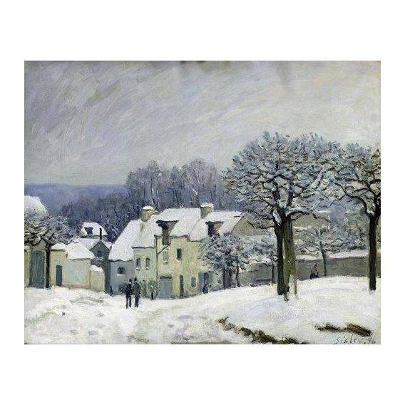 cuadros de paisajes - Cuadro -The Place du Chenil at Marly-le-Roi, Snow, 1876-