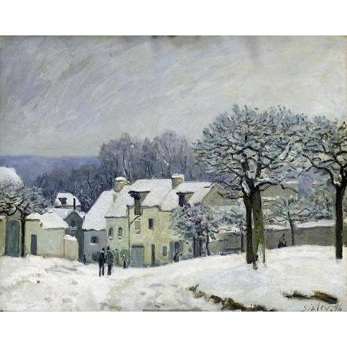 Cuadro -The Place du Chenil at Marly-le-Roi, Snow, 1876-